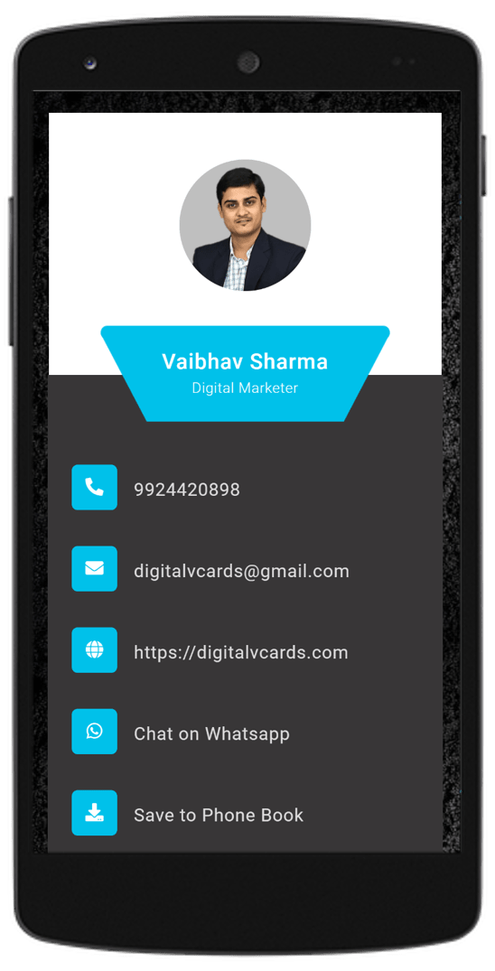 Blue Black Digital vCard