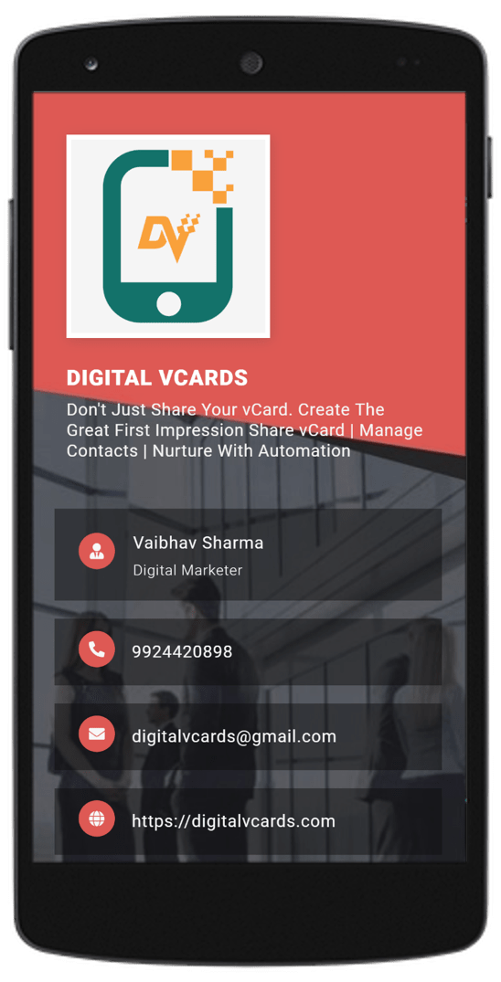 Red vCard with Logo